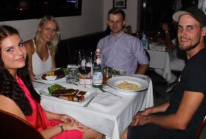 Middag på Jaspas med ML og Jacob