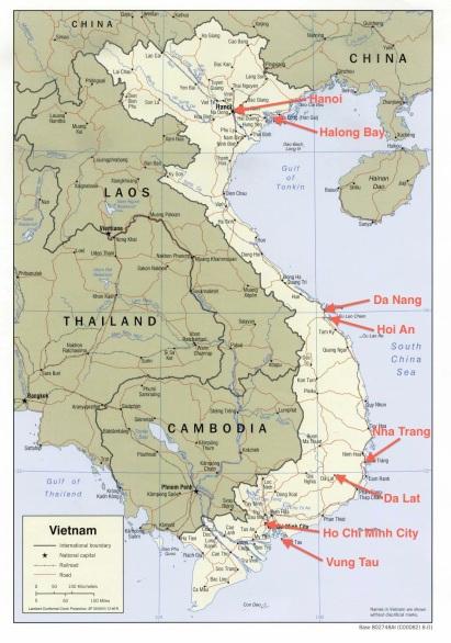 Steder jeg har oplevet i Vietnam